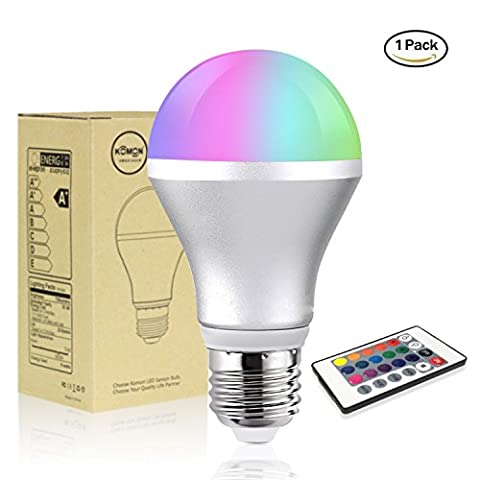 RGB LED Bulb, Savvypixel 5W E27 Colour Changed Smart Bulbs