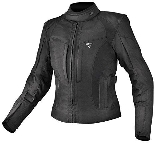 SHIMA Volante Wasserdichte Textil Motorradjacke für Damen mit Protektoren, Schwarz/XL