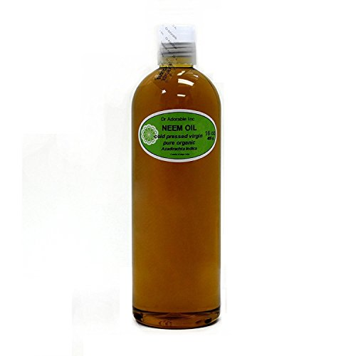 Neem Oil Organic Pure Cold Pressed by Dr. Adorable 16 oz/1 Pint