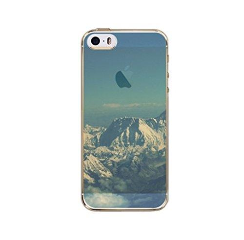 Coque Iphone 5C souple en Gel silicone Souple , Big Ben , Londres, city , Ville Montagne