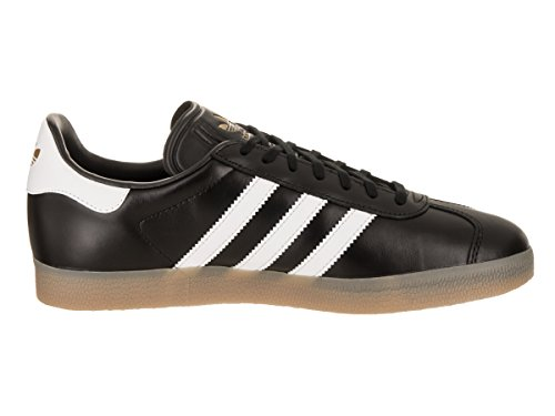 adidas Mens Gazelle Leather Trainers Core Black Footwear White