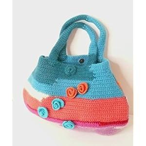 Handtasche bunt aus hochwertiger Wolle.