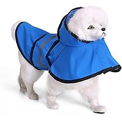 Pet Piccolo medio impermeabile per cani, impermeabile Panno riflettente della luce, giorno di neve piovoso Giornata invernale d'inverno, 8 misure 4 colori per il bulldog di Teddy Labradorretriever Husky , Blue , 4xl