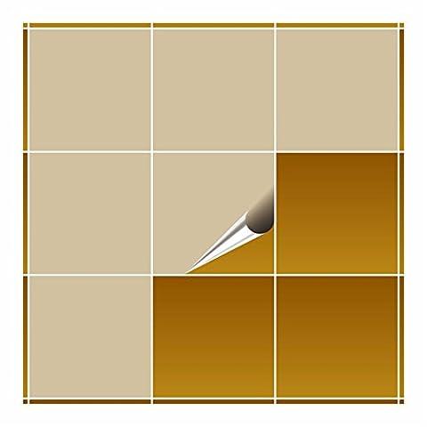 FoLIESEN Carrelage Adhésif pour cuisine et salle de bain–Beige mat