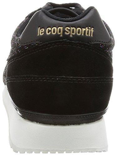 Le Coq Sportif Eclat W Rainbow, Baskets Basses Femme Noir (Black)