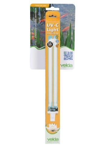 Velda 126635 Ersatz-UV-C Lampe für Elektronische Entferner gegen Grünalgen im Teich, UV-C PL Lampe 55 Watt