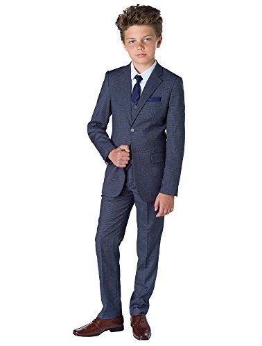Paisley of London, Grauer Anzug, Karo-Anzüge, Pagenanzüge, Gesellschaftsanzüge, für Jungen, 1–14Jahre Gr. 1 Jahre, Grau kariert