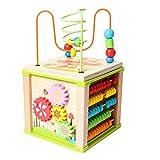 TrifyCore Cube d'activité avec Perle Maze Jouet bébé éducatif en Bois Perle Labyrinthe Forme Sorter pour garçon et Fille 1Régler