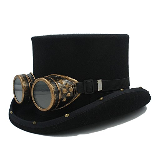 lle Männer Steampunk Hut Frauen Mad Hutmacher Melone Requisiten Fedoras Hut für Damen / Herren Mode ( Color : 1 , Size : 61cm ) (Steampunk-mode Frauen)