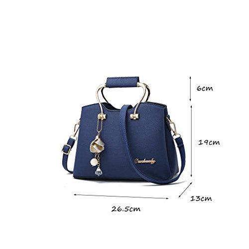 CLOTHES- Sacchetti di borsa delle borse di modo Borsa di spalla del messaggero Borse grandi del sacchetto semplice borsa coreana di estate ( Colore : Rosa ) Il blu scuro.
