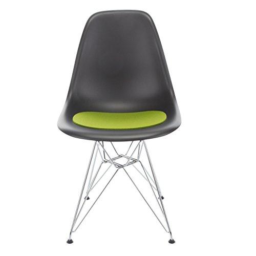 Hey-Sign Sitzauflage Eames Sidechair antirutsch, maigrün Filz