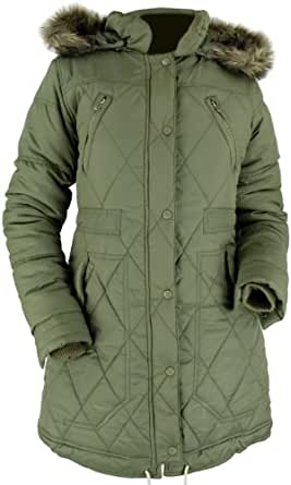 Bellfield Lottir Ladies Parka Coat Khaki B LOTTIR K (X Small (8))