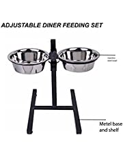 Pets Empire Adjutable Double Dog Diner, (1600 ML *2)