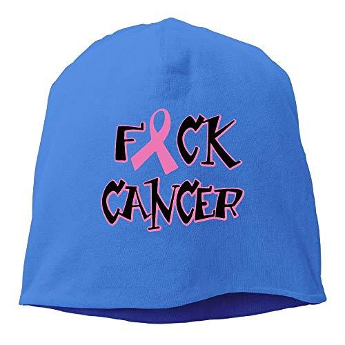 ghkfgkfgk Fuck Cancer Beanie Hats Knit Skull Caps Beanies for Men Women Black -