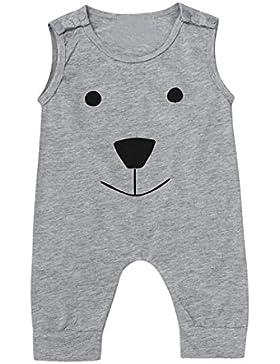 Xshuai Kleinkind-Baby-Mädchen-Jungen-netter stilvolle Bär-Overall-Spielanzug-Spielanzug