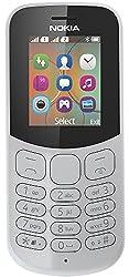 Nokia 130 Mobiltelefon (VGA Kamera, Bluetooth, extra lange Akkulaufzeit, Radio- und MP3 Player, Taschenlampe, Wecker, Dual Sim) grau, Version 2018