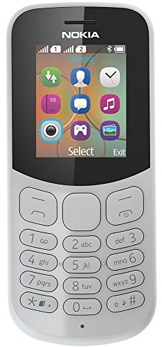 Nokia 130 Mobiltelefon (VGA Kamera, Bluetooth, extra lange Akkulaufzeit, Radio- und MP3 Player, Taschenlampe, Wecker, Dual Sim) grau, version 2018 Nokia Mp3
