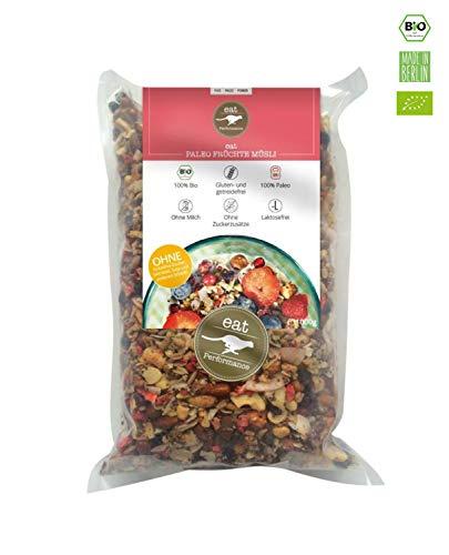 eat Performance® Früchte Müsli (1000g) - Bio, Paleo, Glutenfreies Granola Aus 100% Natürlichen Zutaten -