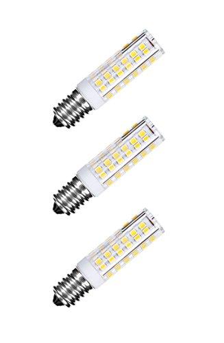 NuLoXx 3er Pack LED Spezial Keramik E14 7W/827 2700K warmweiß 500LM AC 220-240V, 360° Abstrahlwinkel