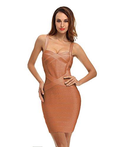 Whoinshop Damen Rayon Bodycon Kleider Minikleid Partykleid Cocktailkleid Festliches Kleid mit Nettes...