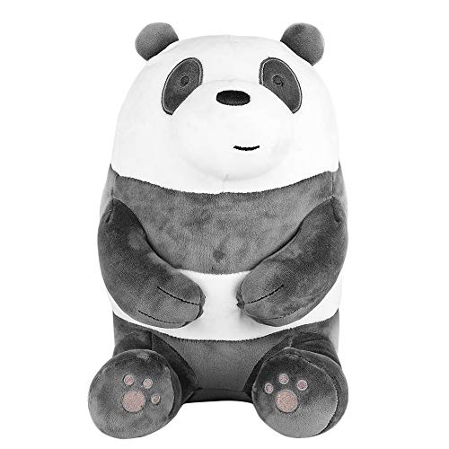 "MINISO We Bare Bears Plush Panda 11"" Lovely Sitting Stuffed Toy"