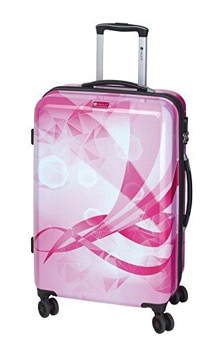Koffer-Reise-Trolley-Reisekoffer-Hartschale-Dehnfalte-L-Mittel-67-Pink-Bowatex