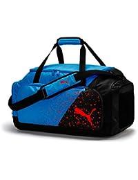 9a91e1108 Puma Liga Medium Bag Bolsa Deporte, Unisex Adulto, Black/Azure Blue/Red