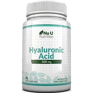 Ácido Hialurónico 300 mg | 90 Cápsulas (Suministro Para 3 Meses) | Tres Veces más Concentrado que Muchas Marcas, por Nu U Nutrition
