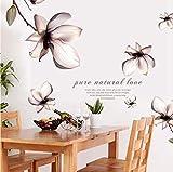 QTXINGMU Lilien Blumen PVC Wand Aufkleber Für Wohnzimmer Schlafzimmer Kinderzimmer Dekoration
