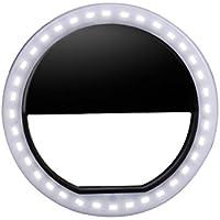 Luz auto recargable del anillo de Selfie 36 LED luces de relleno de la foto Clips en forma redonda Luz de destello suplementaria de la iluminación para iPhone iPad Cámaras móviles de Samsung