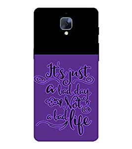 Fabcase life motivation fight hard Designer Back Case Cover for OnePlus One :: OnePlus 1 :: One Plus One