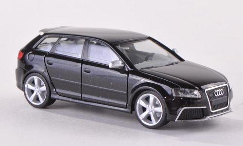 met.-schwarz , Modellauto, Fertigmodell, Herpa 1:87 (Audi Modell Auto)