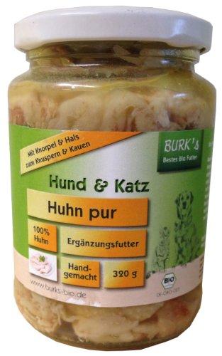 Burk\'s Huhn Pur Bio Hunde und Katzenfutter, 6er Pack (6 x 320 g)