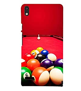 Printvisa Billiard Balls Arranged On The Table Ready To Be Hit 3D Hard Polycarbonate Designer Back Case Cover For Huawei Ascend P6 :: Huawei P6 :: Huawei Ascend P6 Dual