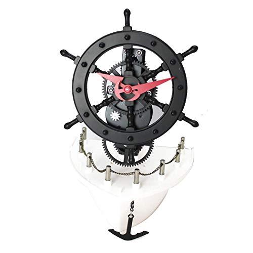 ZHAS Relojes automáticos creativos para Equipos de Vela Relojes de Vapor Retro...