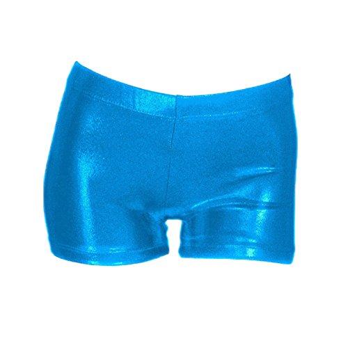 Kostüm Tanz Größe Plus - Wingbind Girls Shiny Gymnastic Shorts Volltonfarbe Gute Qualität Plus Größe