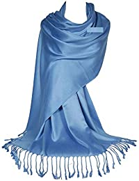 GFM® superficie liscia sciarpa stile pashmina satinata (L9PASH)