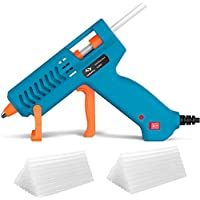 50W Hot Glue Gun Tilswall Mini Melt Gun Electric Heats Up Quickly with 75pcs 130mm Glue Sticks, 3 Patents Design, ON-Off Switch for Art, Craft, Sealing, DIY, Home Repairs, Card, Glass
