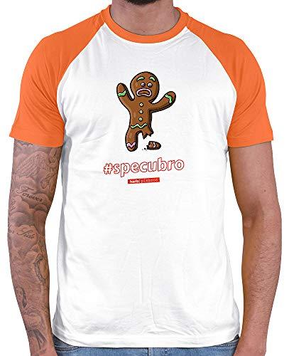 HARIZ  Herren Baseball Shirt Pixbros Specubro Xmas Weihnachten Kinder Geschenke Winter Plus Geschenkkarte White/Orange XL
