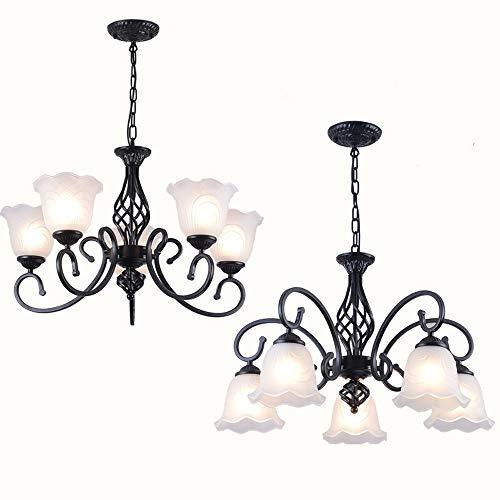 LogIme Modernes Klarglas Schatten Hängeleuchten, Beleuchtung Hang, Einstellbare Draht Semi Flush Deckenleuchten, 3-Light / 5-Licht / 8-Licht / 8-Licht, for Wohnzimmer/Schlafzimmer/Esszimmer -