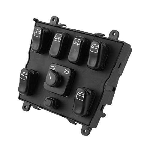 PETUNIA New Electric Power Window Master Control Switch for 1998-2003 Mercedes Benz - Black