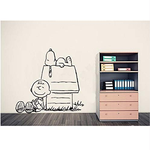 LLLYZZ Charlie Brown Erdnuss WANDAUFKLEBER, Baby Wand, Wandaufkleber Kinderzimmer Home Decor Vinyl Wände Tapete 55 * 53CM