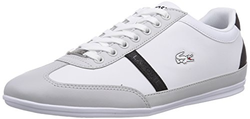 Lacoste MISANO SPORT SCY, Low-Top Sneaker uomo, Bianco (Weiß (WHT/LT GRY 14X)), 45