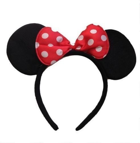 Minnie Mickey Mouse-Ohren Stirnband Abendkleid-Henne Night Party