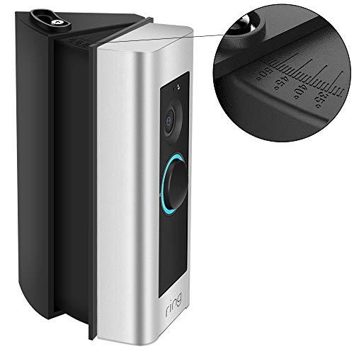Einstellbare Ring Video Doorbell Pro Winkelhalterung (30 bis 55 Grad), CAVN Winkel Adapter Montageplatte Halterung Wedge Corner Kit für Ring Video Pro (3. Generation), Schwarz