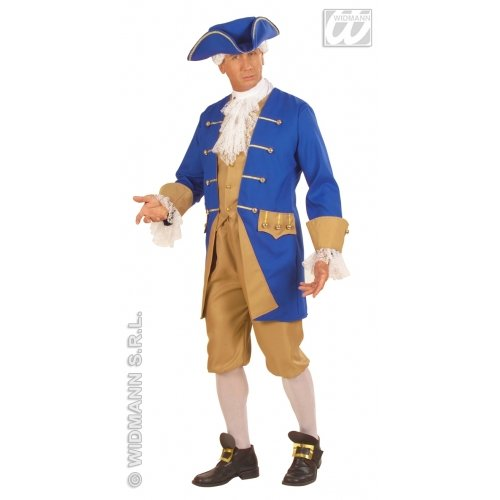 Widmann-WDM57872 Erwachsenenkostüm für Herren, blau weiß, WDM57872