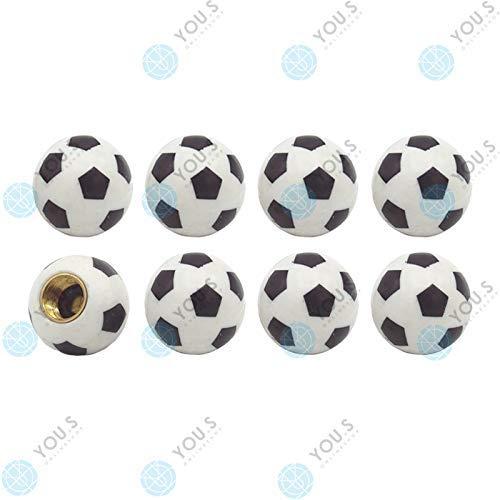 YOU.S Kunststoff Ventilkappen Fußball Soccer Ball mit Dichtung Ventil Kappen Abdeckung für Auto PKW LKW (8 Stück)