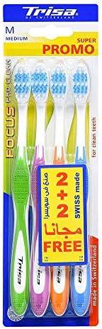 Trisa Focus Medium Toothbrush (Pack of 4)