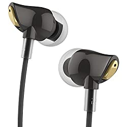 Earbuds with Microphone ,ROCK Zircon Stereo In-Ear Earphone Headphone with Microphone and Remote for sony, iPhone 5/5S/6/6S/6 plus/6s plus, iPod (Black)