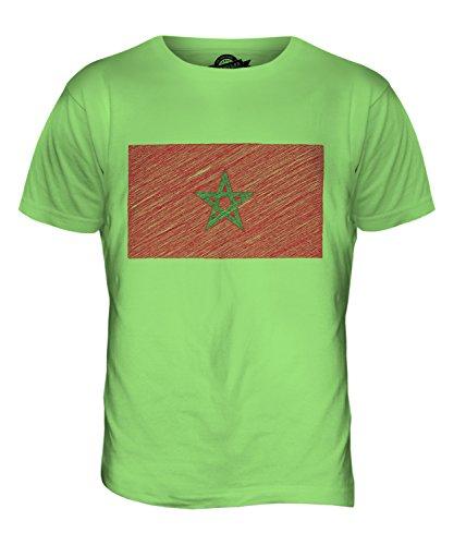 CandyMix Marokko Kritzelte Flagge Herren T Shirt Limettengrün
